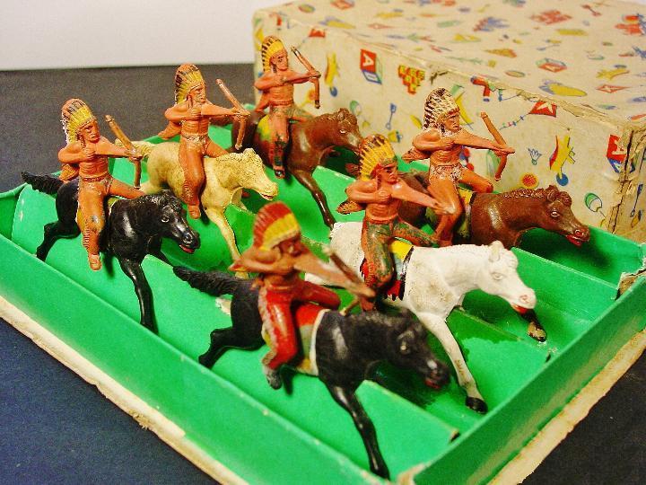 Soldaditos Indios a caballo vaciado de  pisos Vaciart