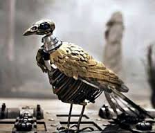 automatas 2 con forma de ave de los primeros juguetes antiguos