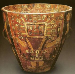 Vasija cerámica arte nazca